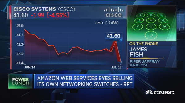 Cisco down: Amazon selling its own networking switches