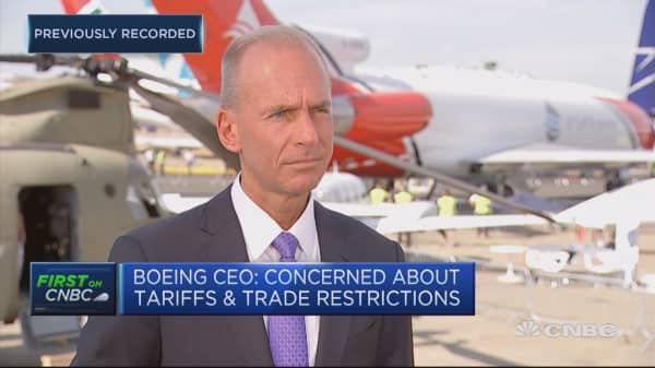 Boeing CEO: Concerned about tariffs and trade restrictions