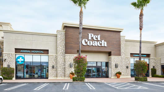 The outside of the PetCoach store by Petco in California.