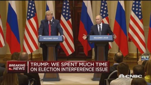 Putin: Can you name one fact that proves election collusion?
