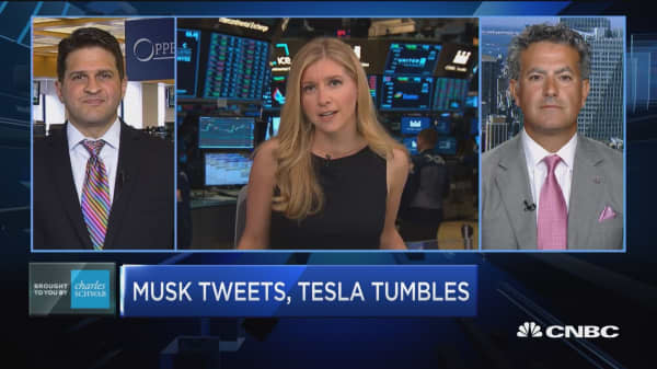 Trading Nation: Musk tweets, Tesla tumbles