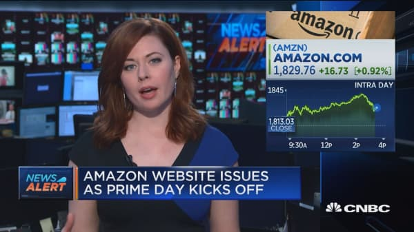 Website issues for Amazon as Prime Day kicks off