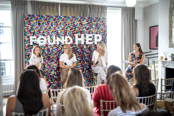 """A snapshot of the """"Queen of the Regime: Master your Routine"""" panel at AllBright's FoundHER festival"""