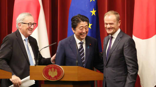 Japan Eu Sign Trade Deal To Eliminate Nearly All Tariffs