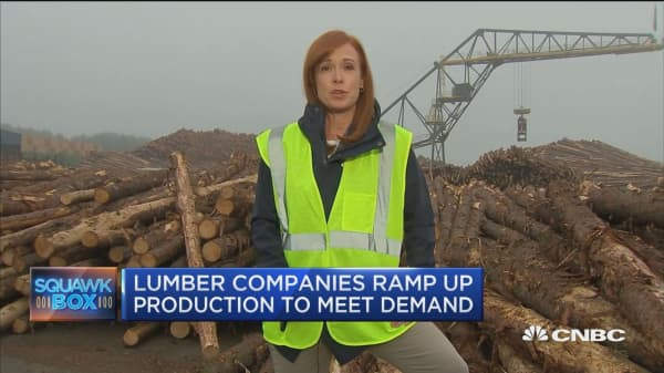 Lumber companies ramp up production to meet demand