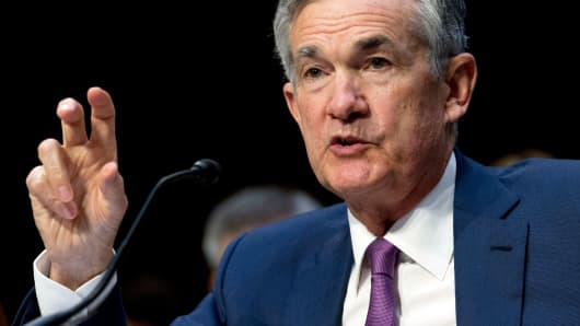 Federal Reserve Board Chair Jerome Powell testifies before the Senate Committee on Banking, Housing, and Urban Affairs on 'The Semiannual Monetary Policy Report to the Congress, at Capitol Hill in Washington on Tuesday, July 17, 2018.