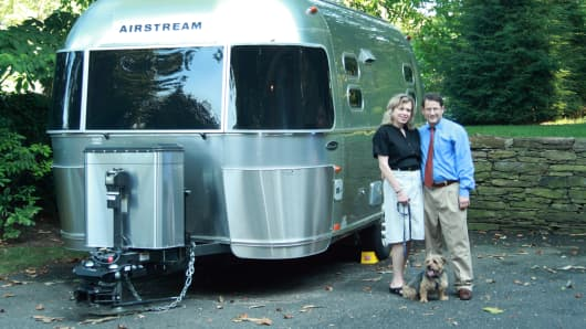 Martin Shenkman and his wife, Patti Klein, travel in a 2009 Airstream several times a year, giving seminars and raising money for the American Brain Foundation.