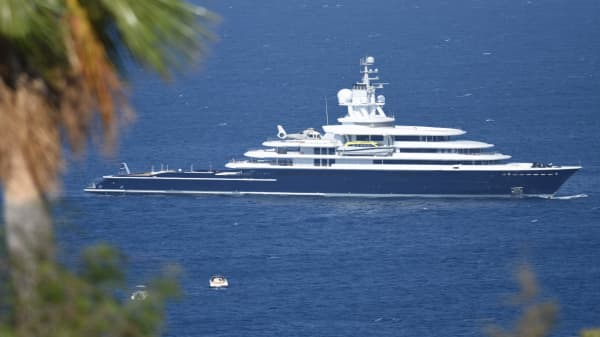 Why a $500 million yacht is in the middle of a Russian billionaire's divorce