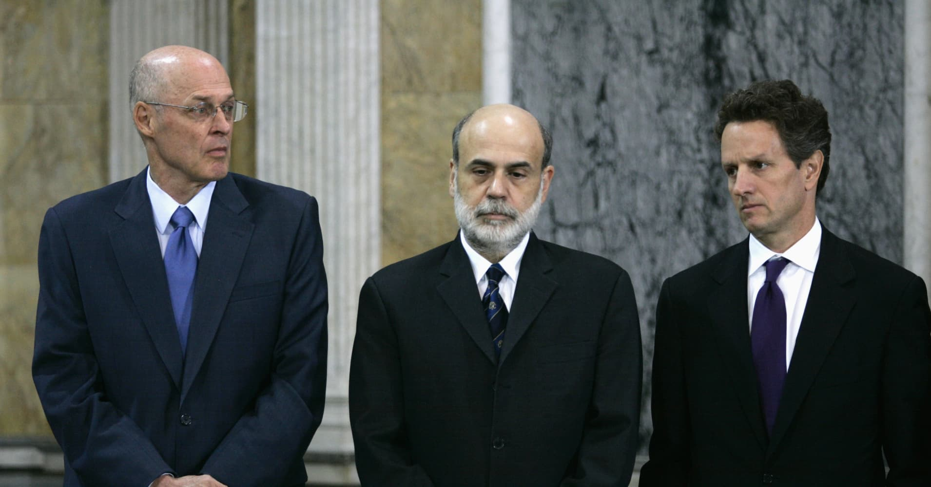 America may not have the tools to counter the next financial crisis, warn Bernanke, Geithner and Paulson