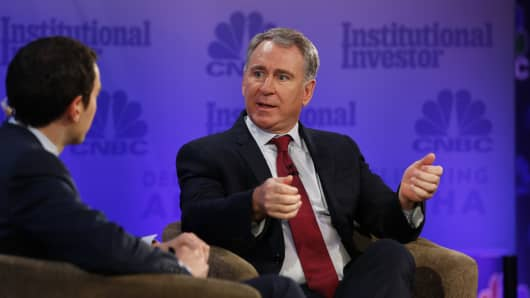 Ken Griffin speaking at the 2018 Delivering Alpha Conference in New York on July 18th, 2018.