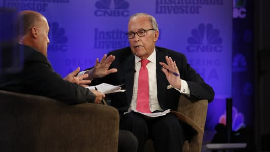 Larry Kudlow speaking at the 2018 Delivering Alpha Conference in New York on July 18th, 2018
