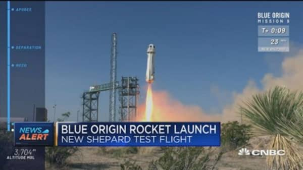 Blue Origin launches New Shepard test flight