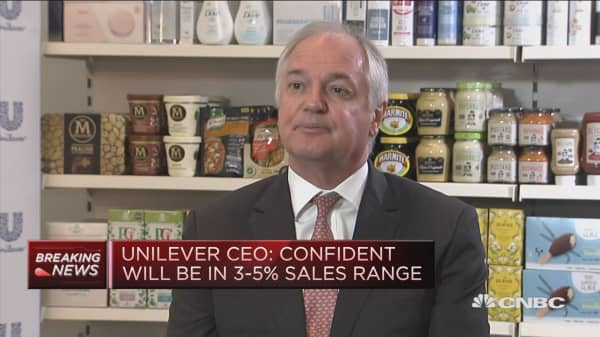 Analysts always worried about something - and that's fine, says Unilever chief executive