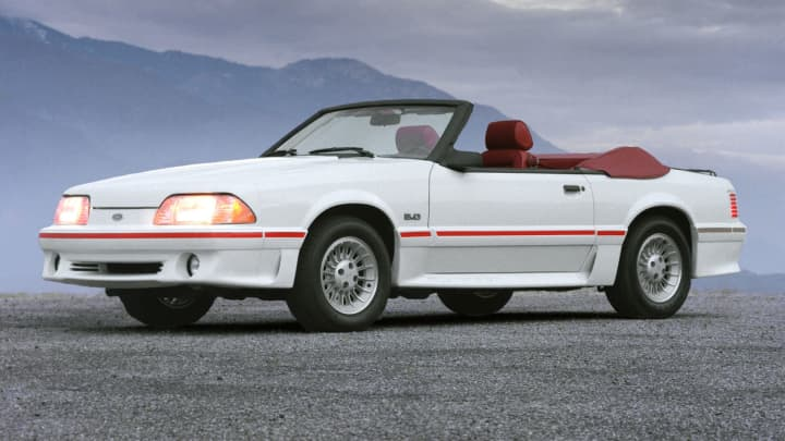 1987 Ford Mustang GT convertible.