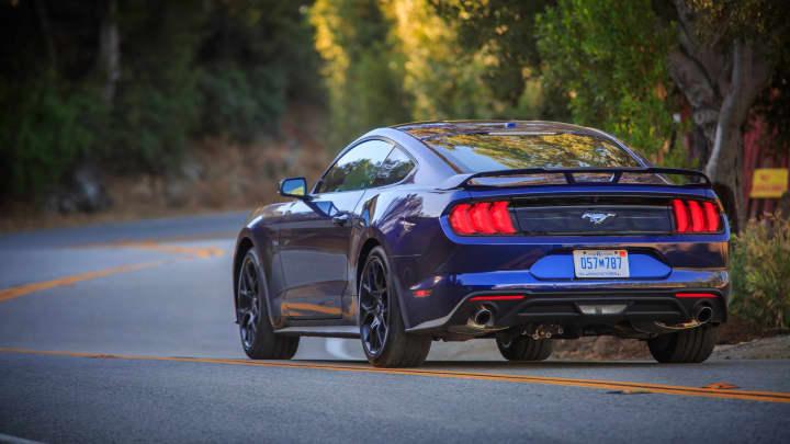 2018 Kona Blue Mustang.