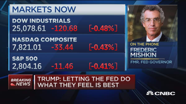 Don't see Trump's Fed comments as big deal but 'dangerous sign': former fed governor
