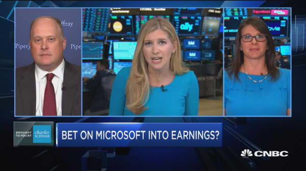 Trading Nation: Bet on Microsoft into earnings?