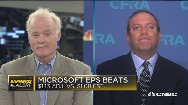 Microsoft's 17 percent revenue growth is not sustainable, says CFRA Research's Kesleer