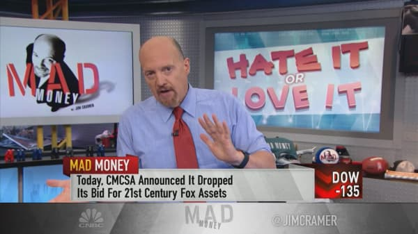 Cramer expects 'total revaluation' of Comcast and Disney