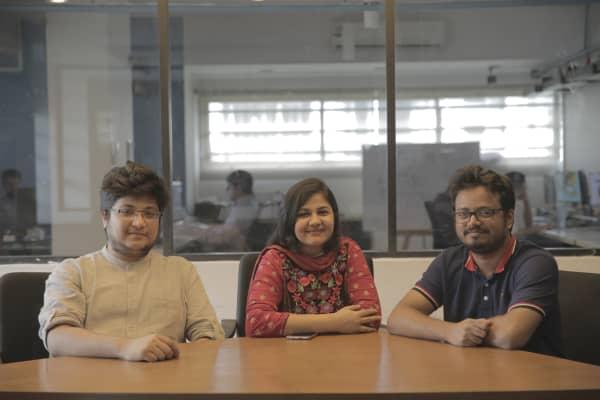 Afeef Zaman, Siffat Sarwar and Ataur Chowdhury, co-founders of ShopUp.