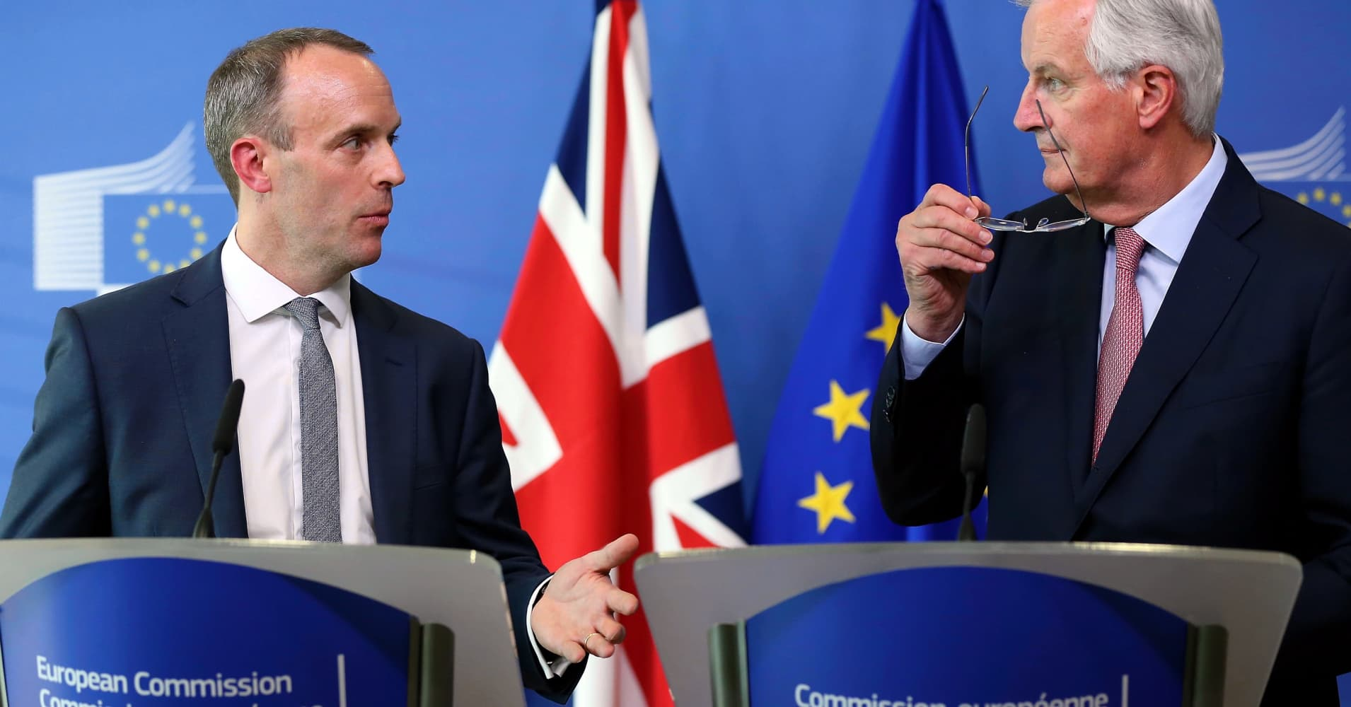European markets edge lower after Brexit talks fail to reach a breakthrough; Convatec shares fall 30%