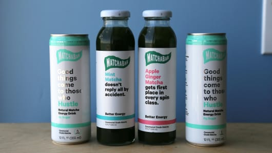 "Matchabar's bottled Matcha and Energy Drink, ""Hustle"""