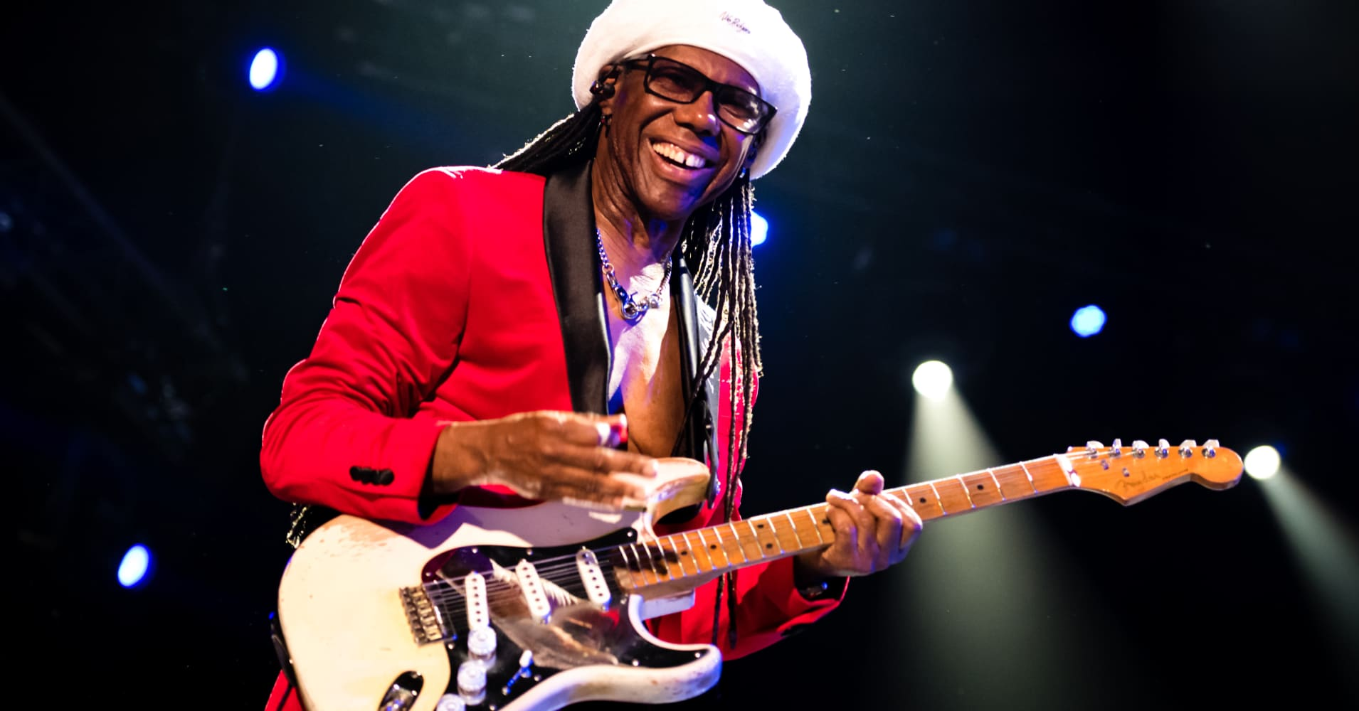 Nile Rodgers of Chic performs on stage at North Sea Jazz Festival at Ahoy on July 14, 2018 in Rotterdam, Netherlands.