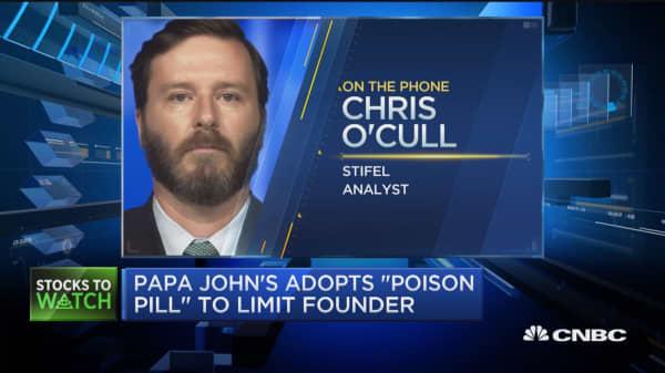 Stifel downgrades Papa John's to 'sell'