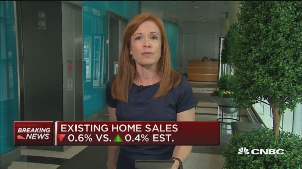 Existing home sales down 0.6% in June