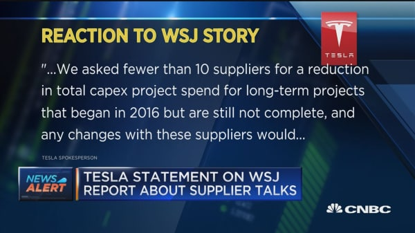 Tesla responds to report about supplier refunds