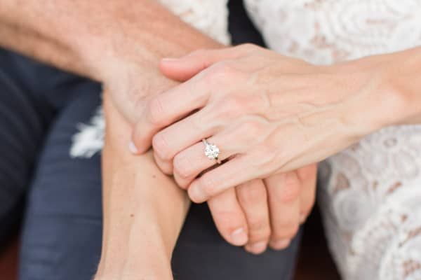 According to The Knot, about a third of couples shop for an engagement ring together.