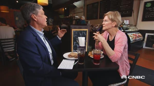 Sen. Elizabeth Warren wants to roll back tax cuts