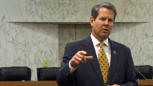Georgia Secretary of State Brian Kemp.