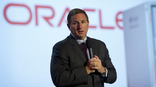 Mark Hurd, CEO of Oracle Corp.