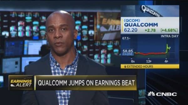 Qualcomm jumps on earnings beat