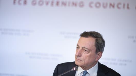 Mario Draghi, president of the European Central Bank (ECB).