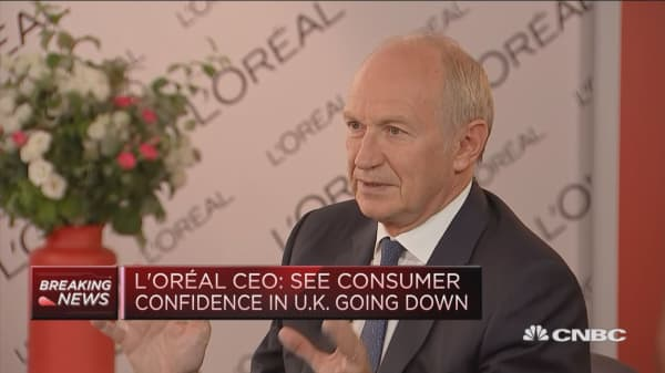 L'Oreal CEO: Trade war 'totally absurd' and not what we need right now