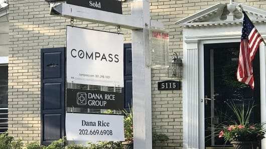 Old Compass real estate sign