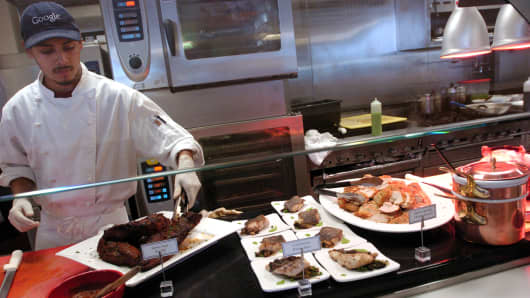 A cook at the Google cafeteria in Mountain View, California.