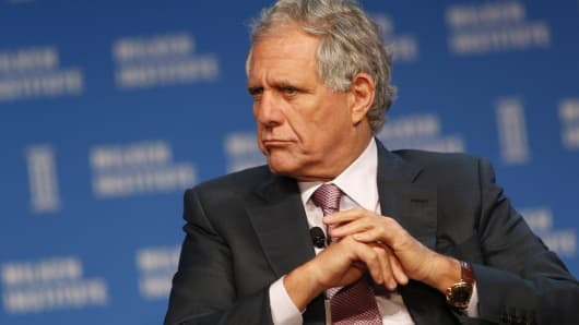 Leslie 'Les' Moonves, president and chief executive officer of CBS Corp., listens during the annual Milken Institute Global Conference in Beverly Hills , California, U.S., on Wednesday, May 4, 2016.