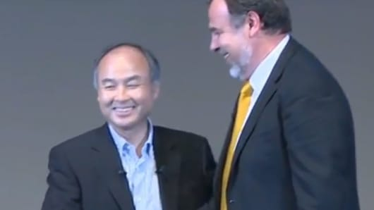 Brain Corp CEO Dr. Eugene Izhikevich and Masayoshi Son