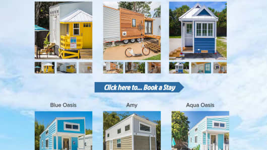 A detail from the Tiny House Siesta homepage.
