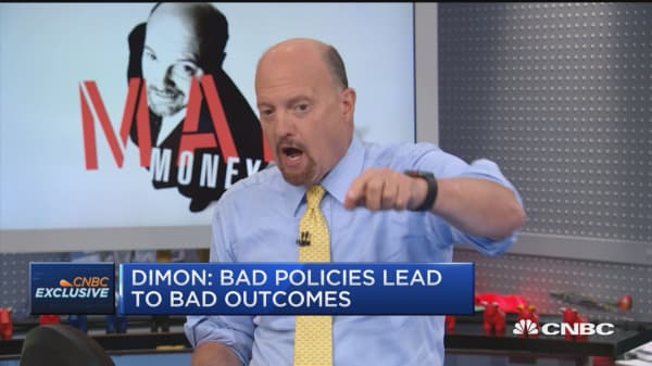 J.P. Morgan's Dimon could be retaliated by Trump, says Jim Cramer