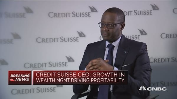 Our revenue growth is unique in the sector, says Credit Suisse CEO