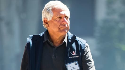 Leslie 'Les' Moonves, president and chief executive officer of CBS Corporation, attends the annual Allen & Company Sun Valley Conference, July 11, 2018 in Sun Valley, Idaho.
