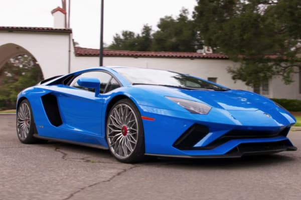 "The 2017 Lamborghini Aventador S featured on CNBC's ""Jay Leno's Garage"""
