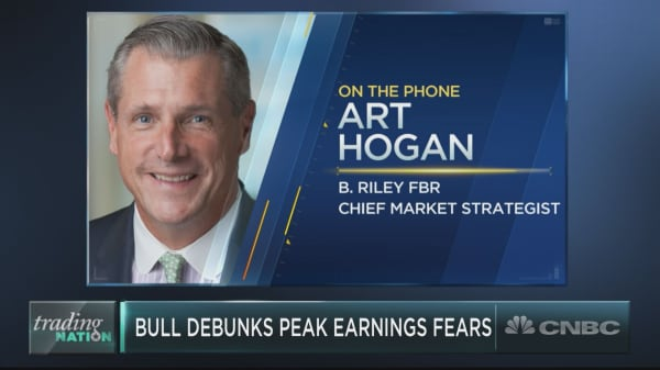 Peak earnings season fears are overblown, says market strategist Art Hogan