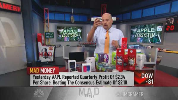 Cramer makes the case for valuing Apple's stock like Procter & Gamble's