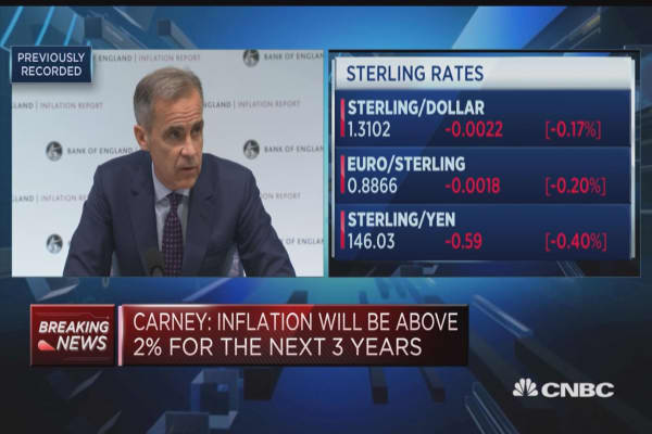 BOE's Carney says policy needs to walk, not run