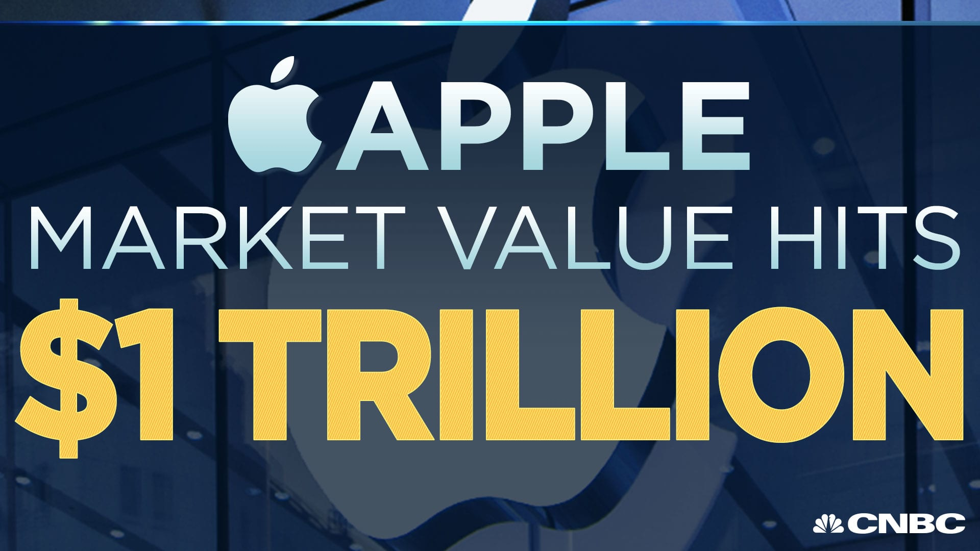here s a live look at apple s historic run at 1 trillion in market